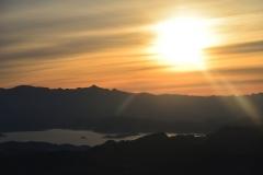 Sonnenaufgang über dem Lake Mead
