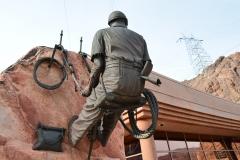 Hoover Dam Statue Arbeiter