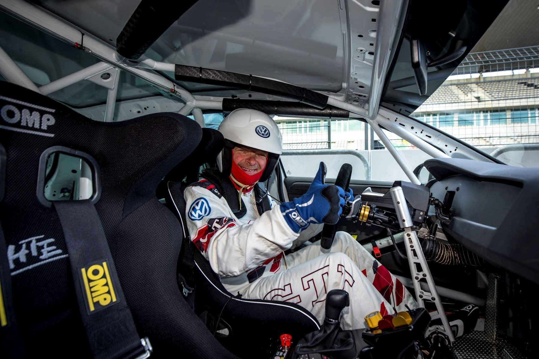 Dietmar Stanka im VW Golf GTI TCR Rennwagen