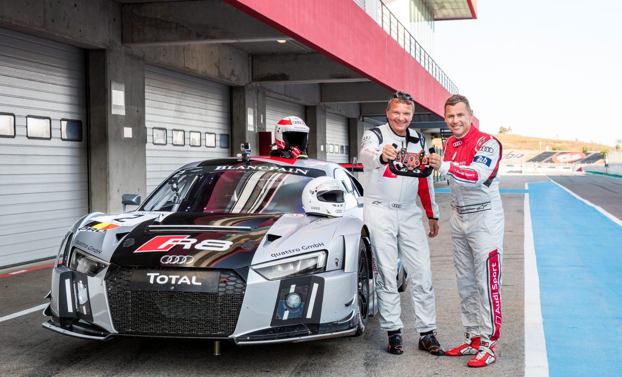 Audi R8 LMS Dietmar Stanka und Tom Kristensen
